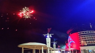 Fireworks at sea