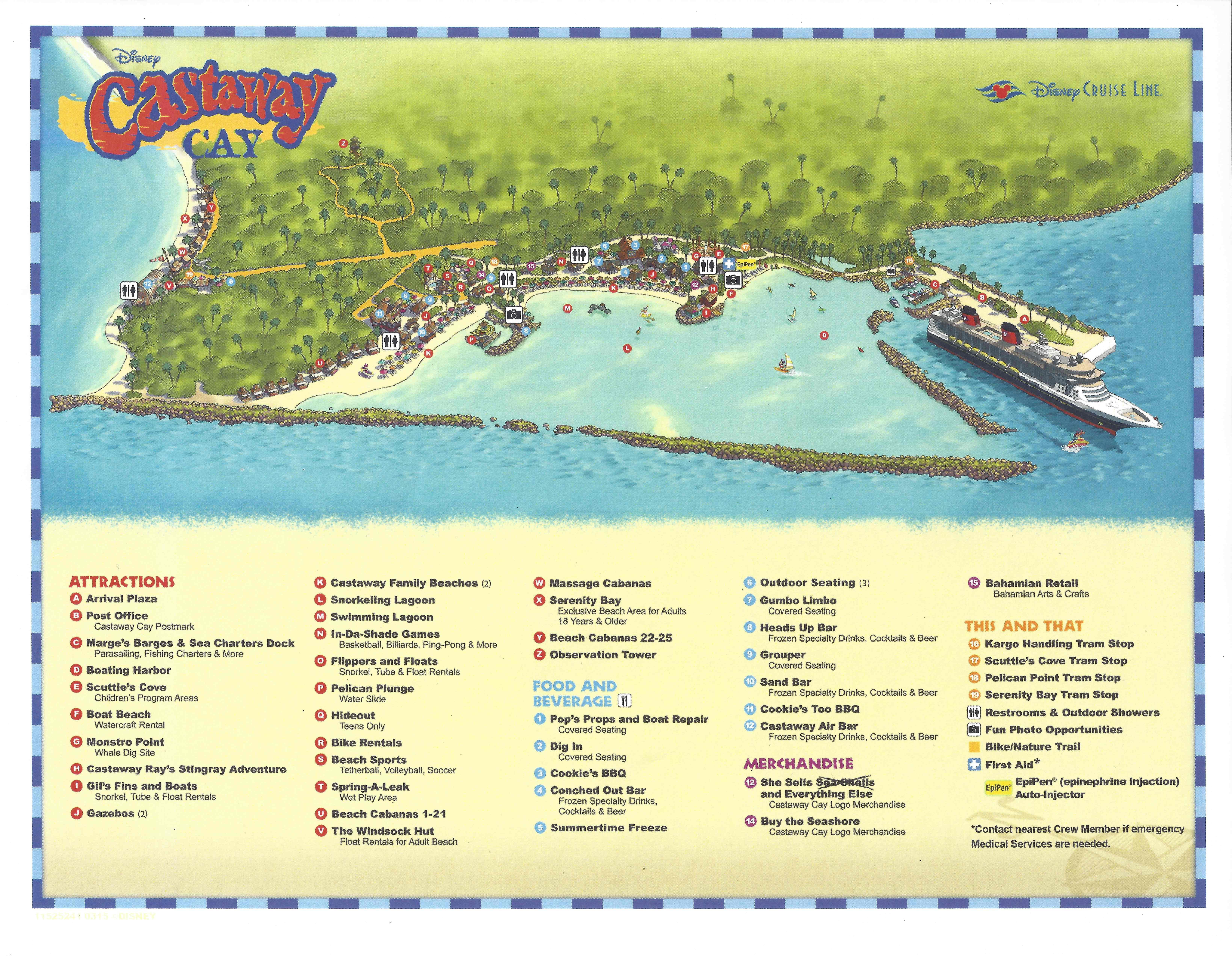 Map of Castaway Cay