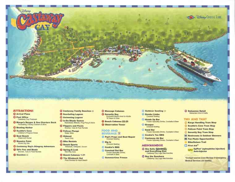 Map of Castaway Cay